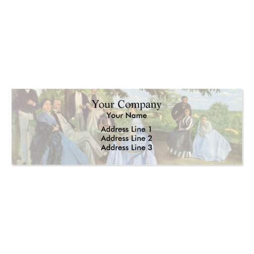 Frederic Bazille- Family Reunion Business Card Template