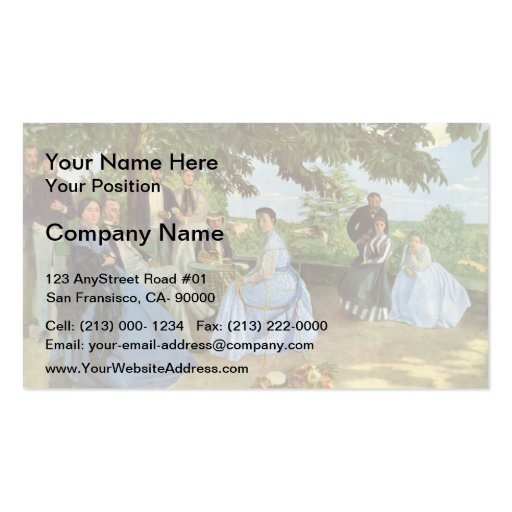 Frederic Bazille- Family Reunion Business Cards
