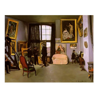 Frederic Bazille-The Artist's Studio,Rue Condamine Postcard