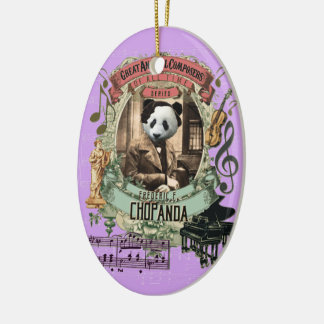 Frederic Chopanda Panda Animal Composer Chopin Ceramic Ornament