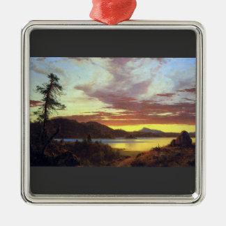 Frederic Edwin Church - A Sunset Christmas Ornament