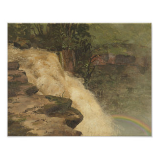 Frederic Edwin Church - A Waterfall in Colombia Photo Print