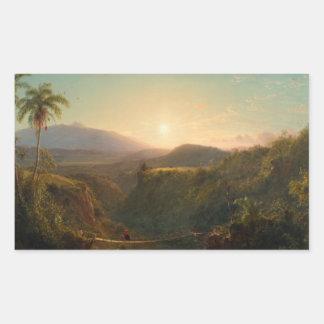 Frederic Edwin Church - American - Pichincha Rectangular Sticker