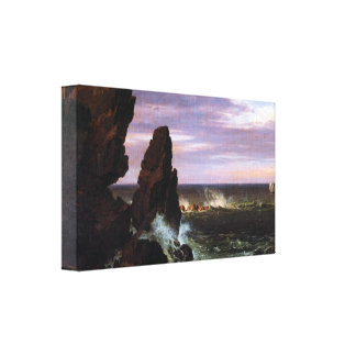 Frederic Edwin Church - Coastal scene Stretched Canvas Prints
