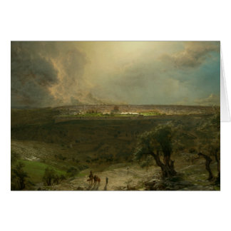 Frederic Edwin Church - Jerusalem from the Mount Card