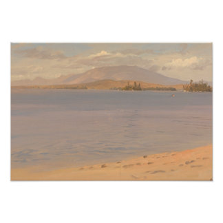 Frederic Edwin Church - Mount Katahdin from Lake Photo Print