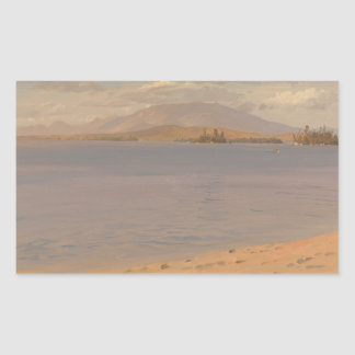Frederic Edwin Church - Mount Katahdin from Lake Rectangular Sticker