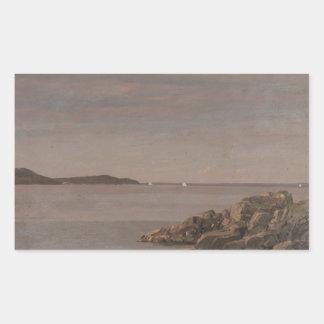 Frederic Edwin Church - Mt. Desert Island Rectangular Sticker