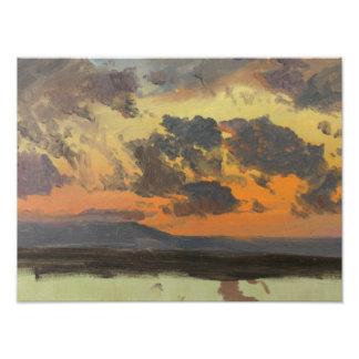 Frederic Edwin Church - Sky at Sunset, Jamaica Art Photo