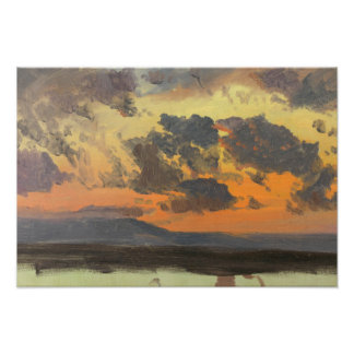 Frederic Edwin Church - Sky at Sunset, Jamaica Photo