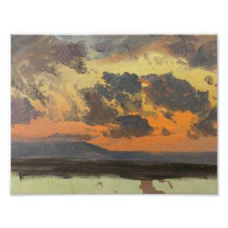 Frederic Edwin Church - Sky at Sunset, Jamaica Photo Print