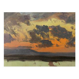Frederic Edwin Church - Sky at Sunset, Jamaica Postcard