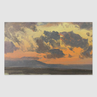 Frederic Edwin Church - Sky at Sunset, Jamaica Rectangular Sticker