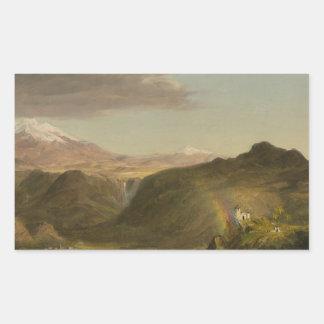 Frederic Edwin Church - South American Landscape Rectangular Sticker