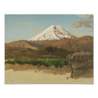 Frederic Edwin Church - Study of Mount Chimborazo Photo Print