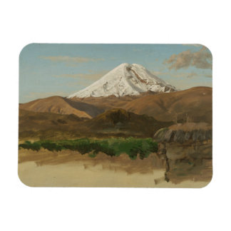 Frederic Edwin Church - Study of Mount Chimborazo Rectangular Photo Magnet