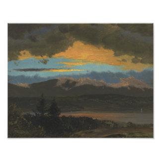 Frederic Edwin Church - Sunset Across the Hudson Photograph
