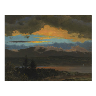 Frederic Edwin Church - Sunset Across the Hudson Postcard