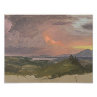 Frederic Edwin Church -Sunset in the Hudson Valley Art Photo