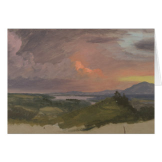 Frederic Edwin Church -Sunset in the Hudson Valley Card