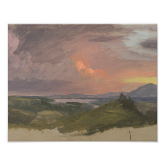 Frederic Edwin Church -Sunset in the Hudson Valley Photo Art
