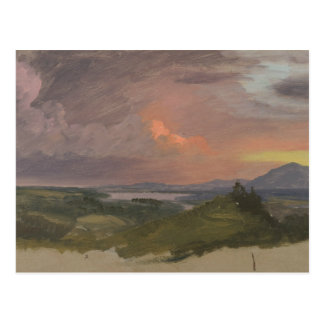 Frederic Edwin Church -Sunset in the Hudson Valley Postcard