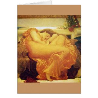 "Frederic Leighton, ""Flaming June"" Greeting Card"