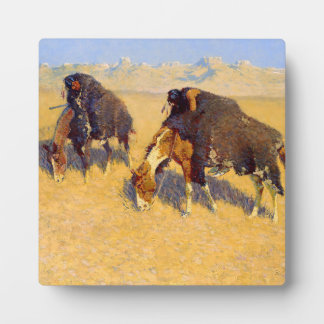 Frederic Remington Art Indians Simulating Buffalo Plaque
