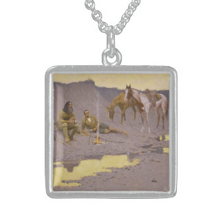 """Frederic Remington Art """"New Year On The Cimarron"""" Sterling Silver Necklace"""