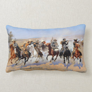 Frederic Remington Dash for the Timber Lumbar Cushion