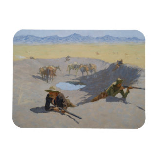 Frederic Remington - Fight for the Waterhole Rectangular Photo Magnet