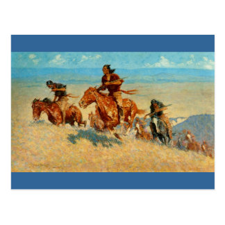 Frederic Remington s The Buffalo Runners 1909 Postcards