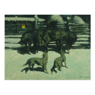 Frederic Remington - The Call for Help Postcard