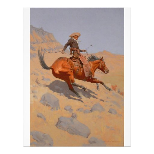 Frederic Remington - The Cowboy Flyers