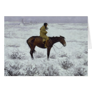 Frederic Remington - The Herd Boy Card