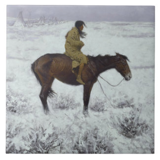 Frederic Remington - The Herd Boy Tile