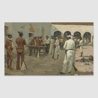 Frederic Remington - The Mier Expedition Rectangular Sticker