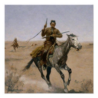 "Frederic Remington Western Art ""The Flight"" Poster"