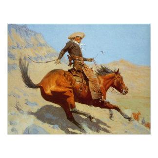 Frederic Remington's The Cowboy (1902) 21.5 Cm X 28 Cm Flyer