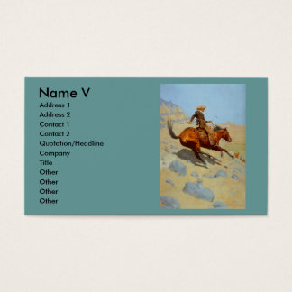 Frederic Remington's The Cowboy (1902) Business Card