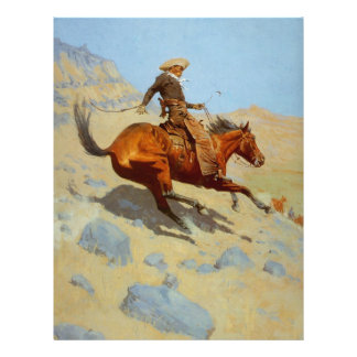 Frederic Remington's The Cowboy (1902) Flyers