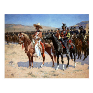 Frederic Remington's The Mexican Major (1889) Postcard