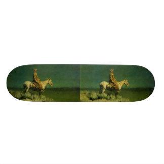 Frederic Remington's The Night Herder (circa 1908) Skate Board Decks