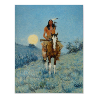 Frederic Remington's The Outlier 1909 Card