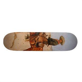 Frederic Remington's The Puncher (1895) 21.6 Cm Skateboard Deck