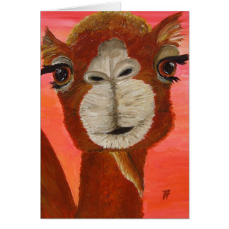 Frederic the cute Camel - Greeting Card