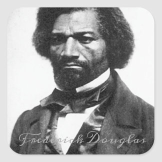 Frederick Douglass Square Sticker
