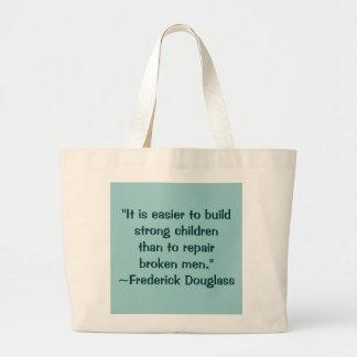 Frederick Douglass Strong Children Quote Jumbo Tote Bag