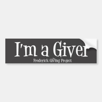 Frederick Giving Project Bumper Sticker