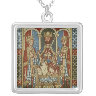 Frederick I with his two sons Square Pendant Necklace